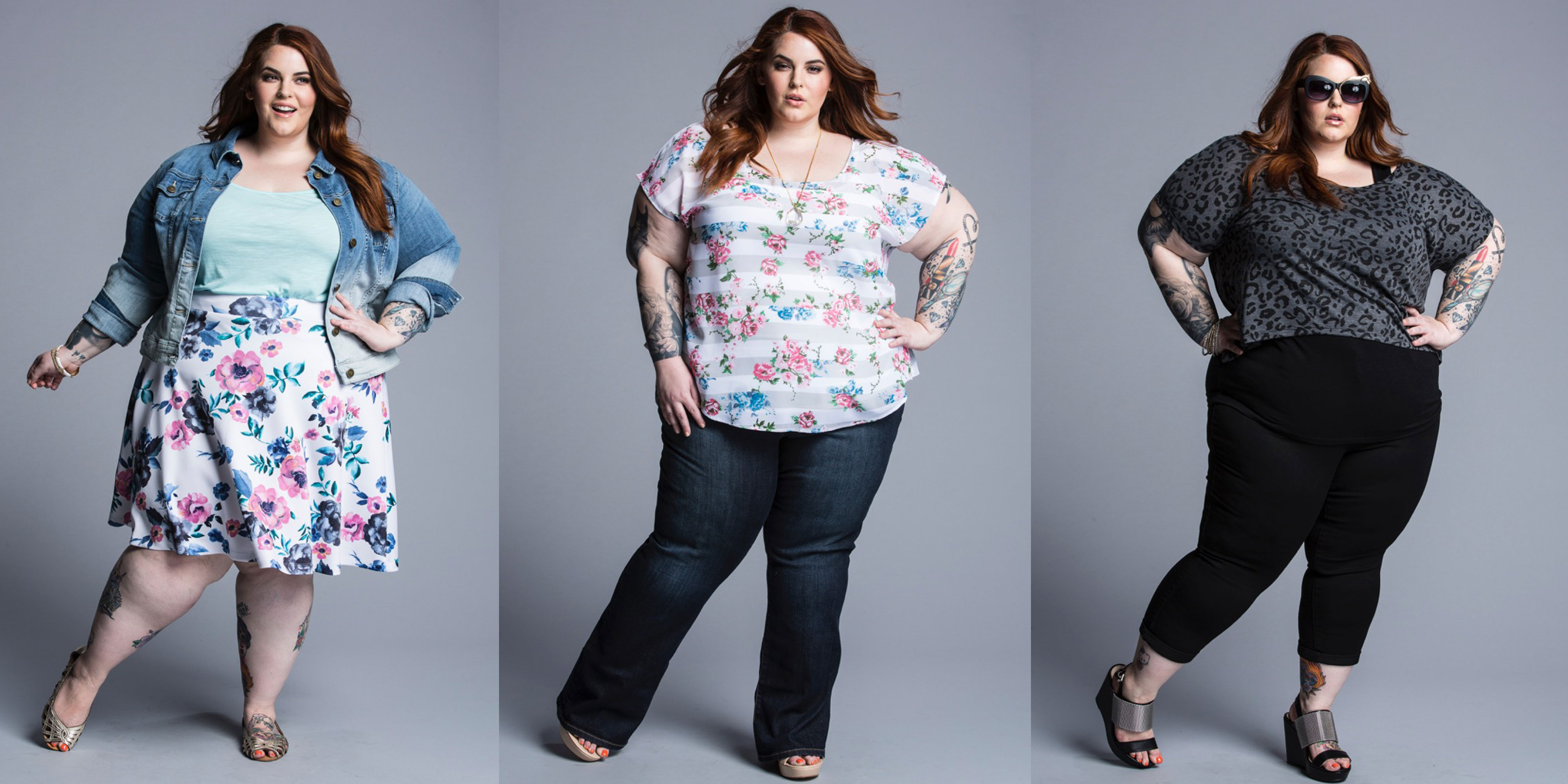 Plus-Size Model Tess Holliday Glows in Photoshop-Free
