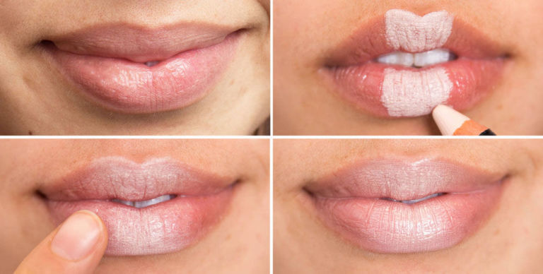 What is a method for making lips lighter?