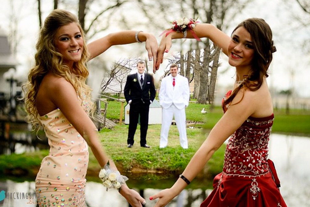 9 creative ideas for prom pics with your besties for Group pics ideas