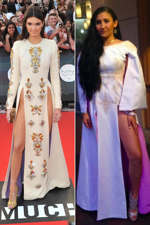 Teen Recreates Kendall Jenner's Double-Slit Dress For Prom