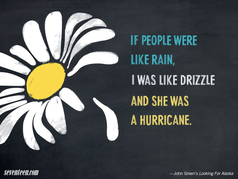 "Alaska Quotes Looking For Alaska: BREAKING: John Green's ""Looking For Alaska"" Is Really"