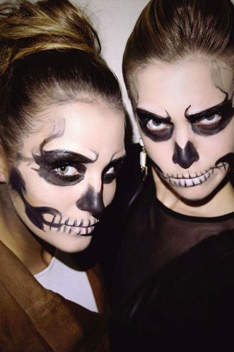 Halloween Makeup Skull Half Face 7
