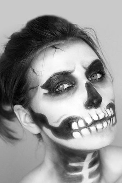 Skeleton Makeup Tutorial Halloween Sugar Skull Makeup