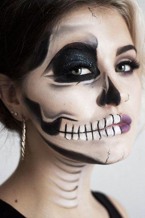 Skeleton Makeup Tutorial - Halloween Sugar Skull Makeup