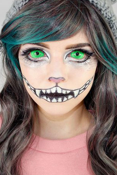 cheshire cat makeup tutorial cheshire cat halloween costume 2015. Black Bedroom Furniture Sets. Home Design Ideas