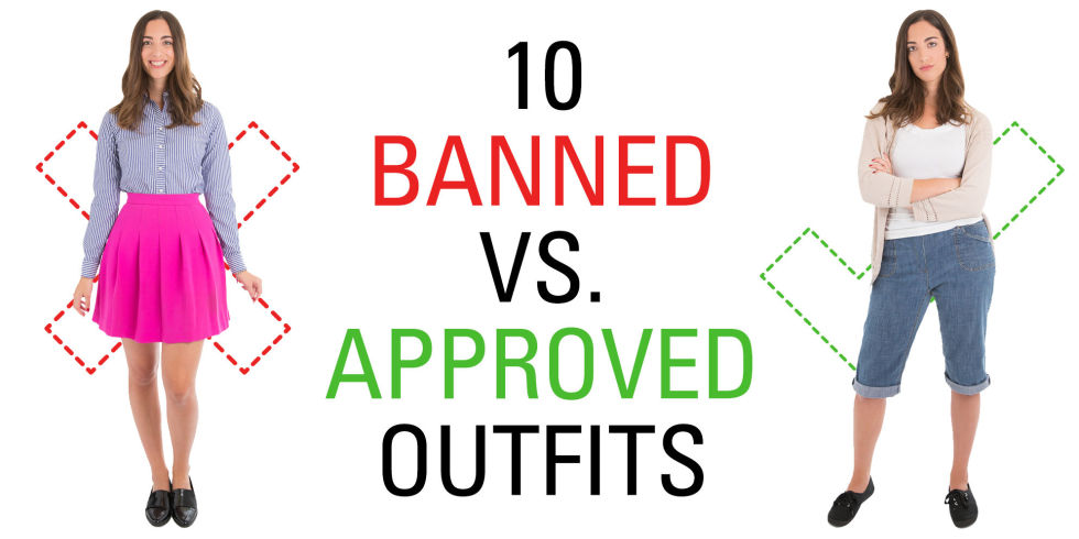 10 Banned Vs. Approved Outfits That Show How Ridiculous School ...