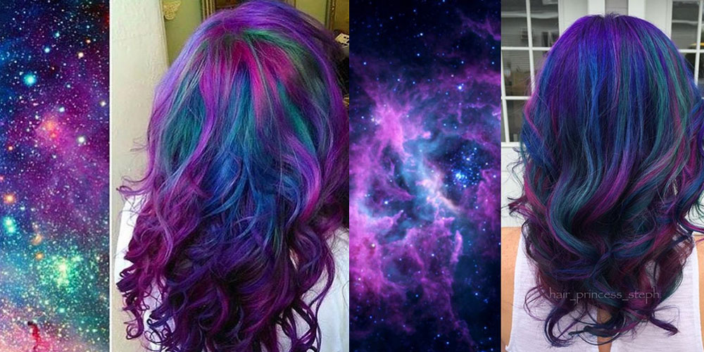 galaxy hair is the incredible new hair color trend you re