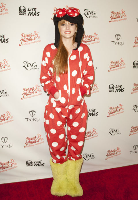 Bella channeled her Disney star roots in this fun Minnie Mouse onesie. Eat your heart out Mickey!
