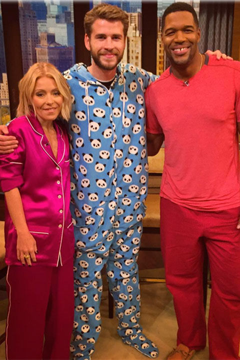 Could The Hunger Games star be in any cuter in his panda PJs during an appearance on Live With Kelly and Michael?