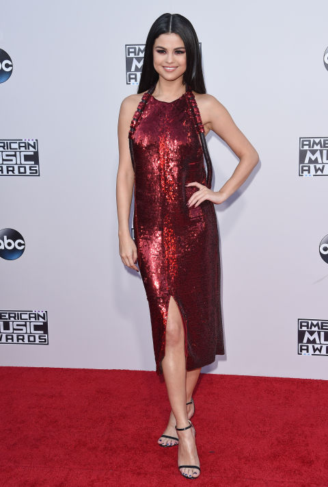 All eyes were on Selena in this glam dress at the 2015 American Music Awards.