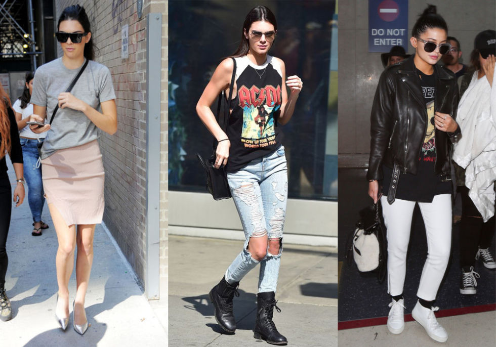 How to wear what to wear with oversized t shirts for Kendall and kylie vintage t shirts