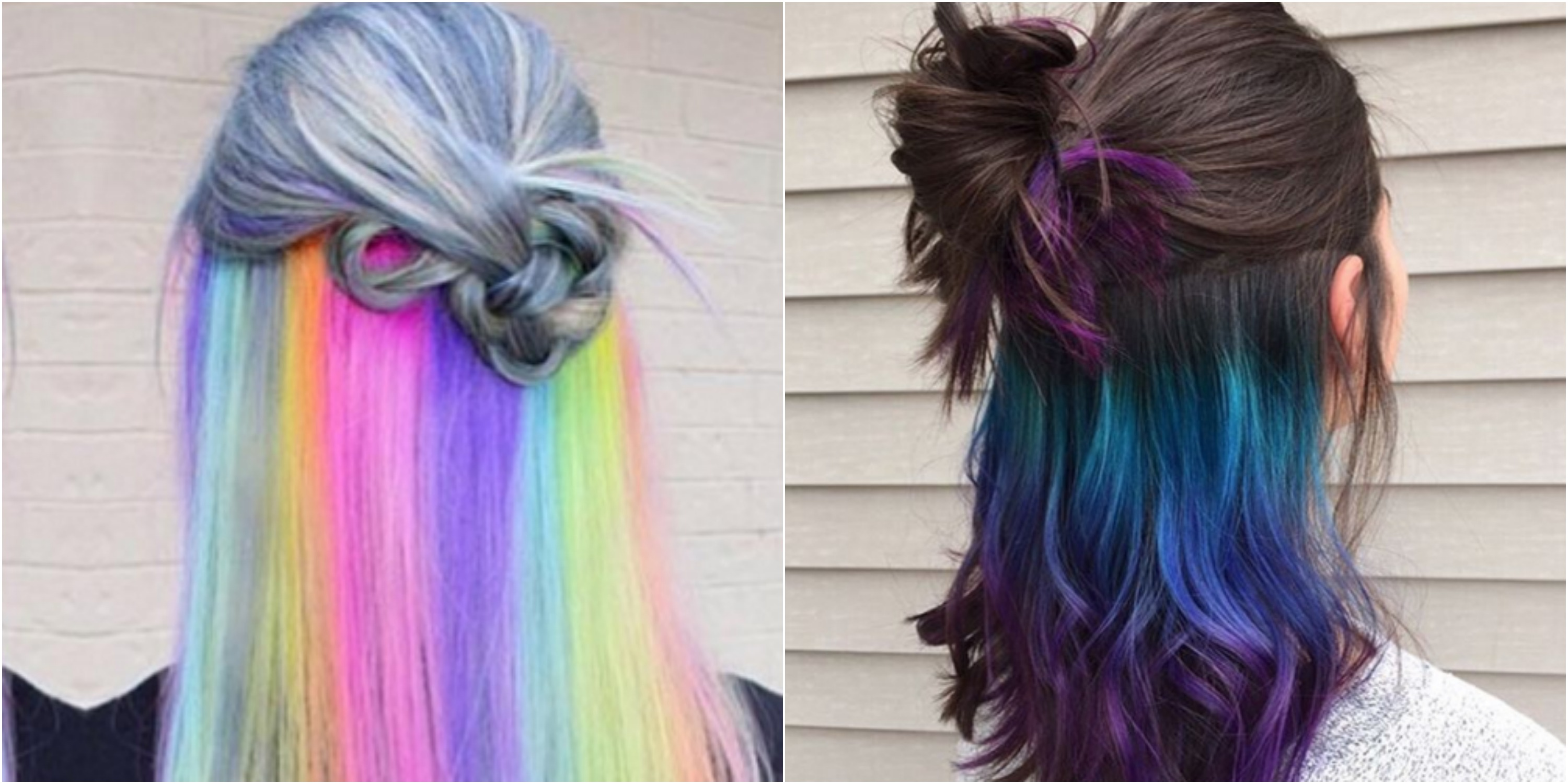 The Underlights Hair Color Trend Secret Rainbow Hair Color