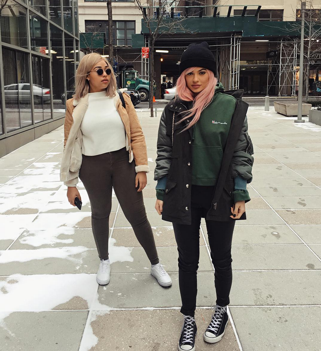 Kylie jenner and bestie jordyn woods debuted a possible Fashion style on instagram