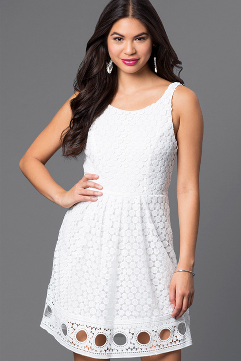 Graduation Dresses For High School White 99