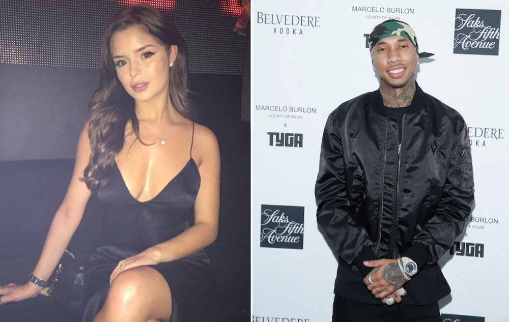 celebrity couples news tyga shuts down rumors dating selena gomez lookalike named demi rose