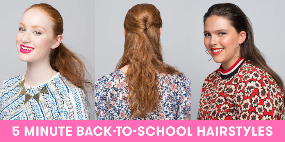 Cool 8 Back To School Hairstyles You Can Do In 5 Minutes Or Less Short Hairstyles Gunalazisus
