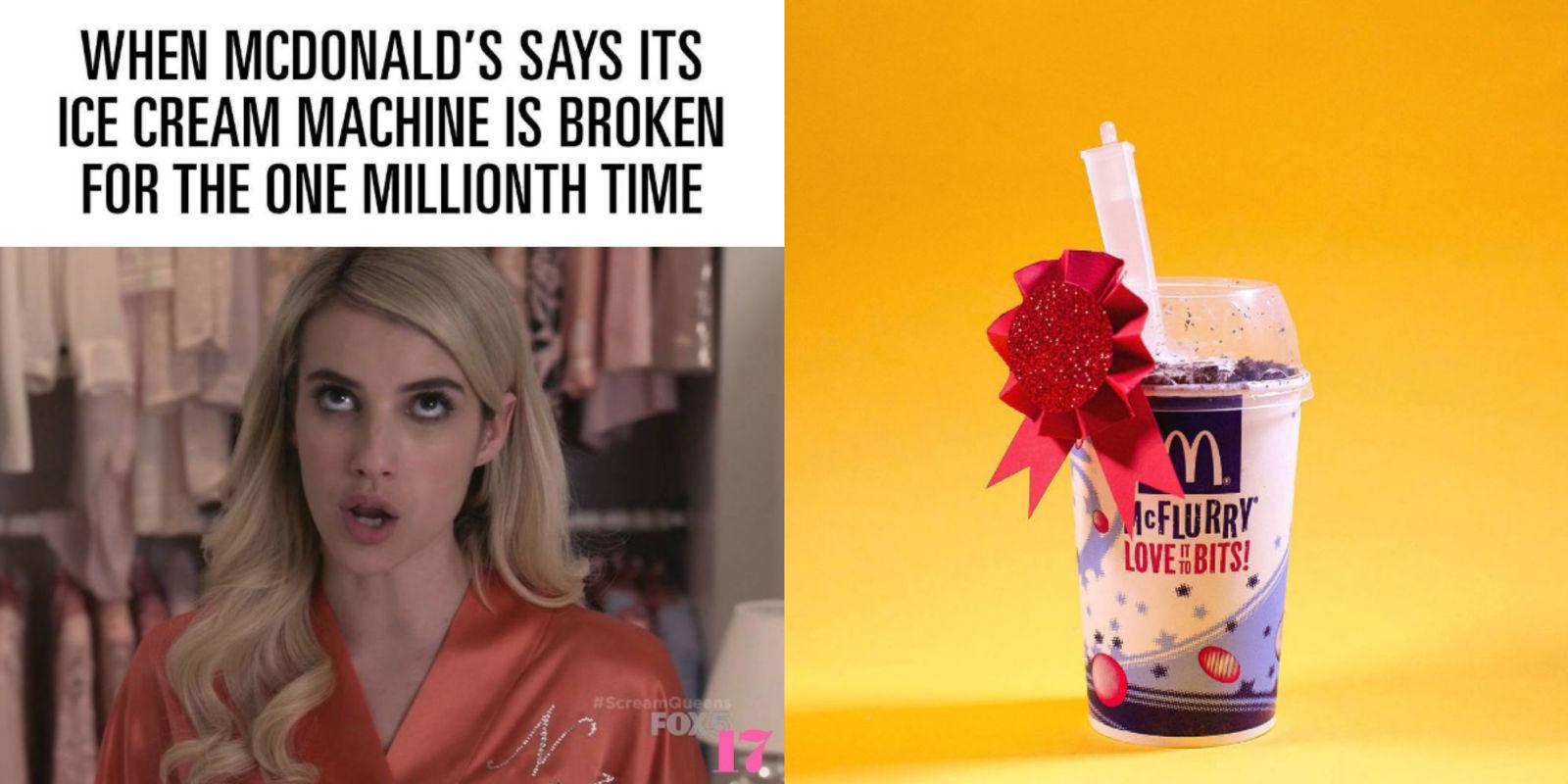why is mcdonalds machine always broken