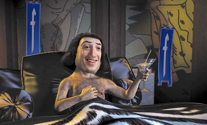Mark Zuckerberg on Farquaad's face - unfortunately we can't take credit of this masterpiece.