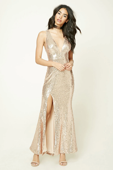 35 Best Gold, Silver and Metallic Prom Dresses of 2017