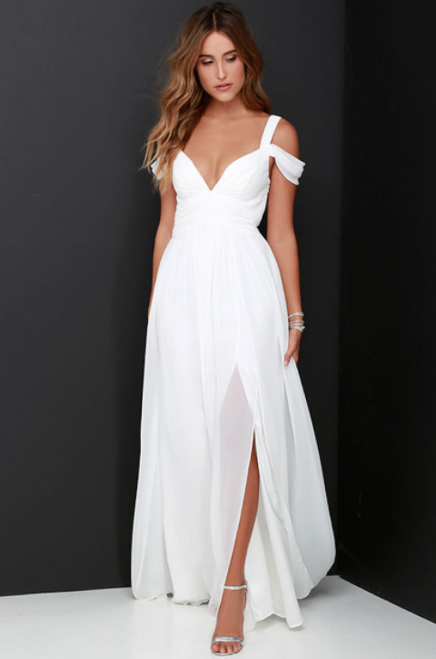 37 Hot White Prom Dresses for 2017 - All White Formal Dresses
