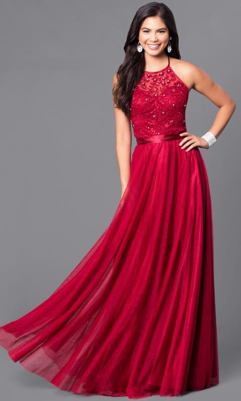 Tumblr dresses prom red 2017