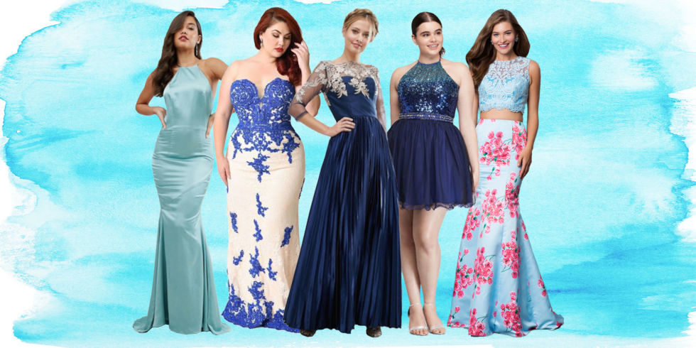 50 Best Blue Prom Dresses for 2017 in Royal- Navy and Baby Blue