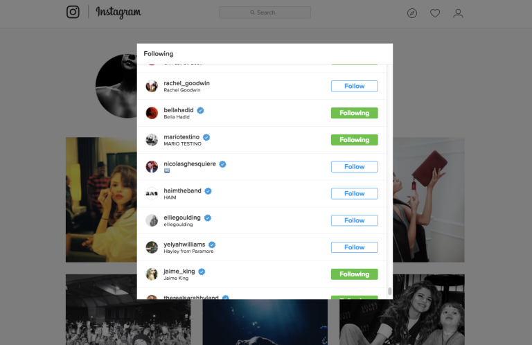 1484174151 syn svn 1484167715 capture decran 2017 01 11 a 034755 pm DRAMA! Bella Hadid Unfollows Selena Gomez on Instagram