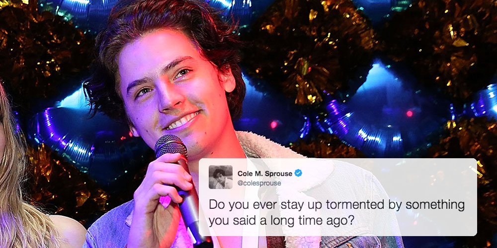 Cole Sprouse Formally Apologizes for Makeup-Shaming Girls When He Was 11