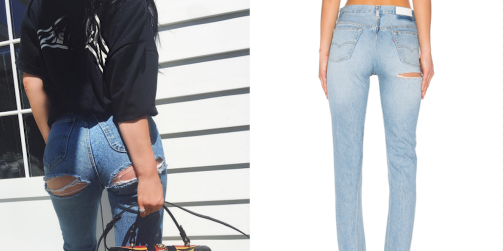 Now You Can Buy Ripped-Butt Jeans Like Kylie Jenner's