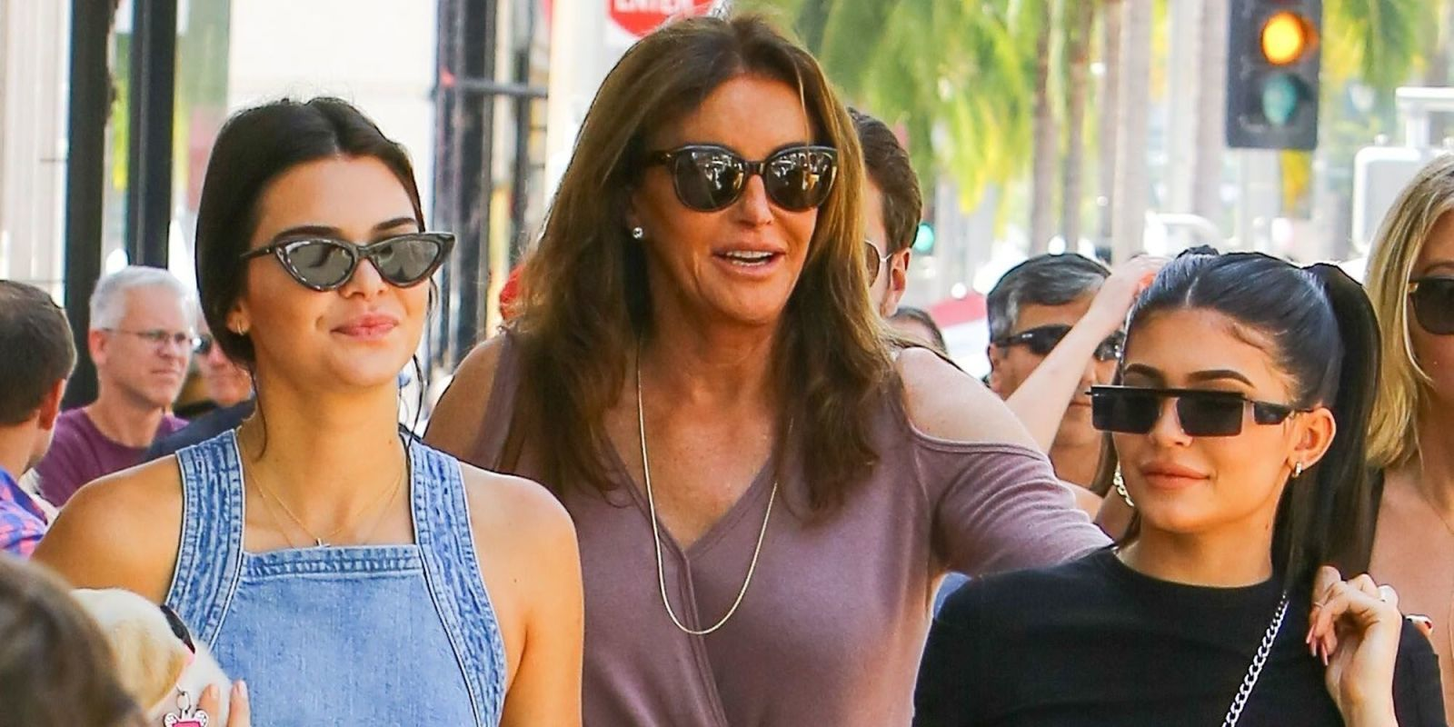 Kendall and Kylie Took Caitlyn Jenner Out on the Town for Father's Day