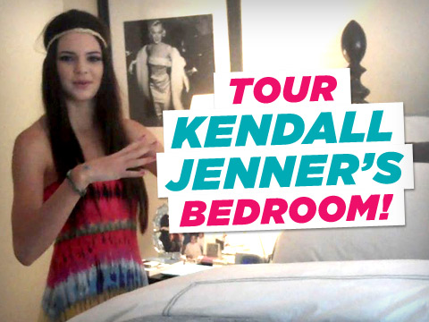 Tour kendall jenner 39 s bedroom video clip for Kylie jenner room tour