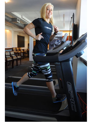 with treadmill burn belly fat
