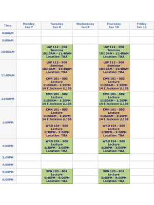 how to make a good class schedule for college
