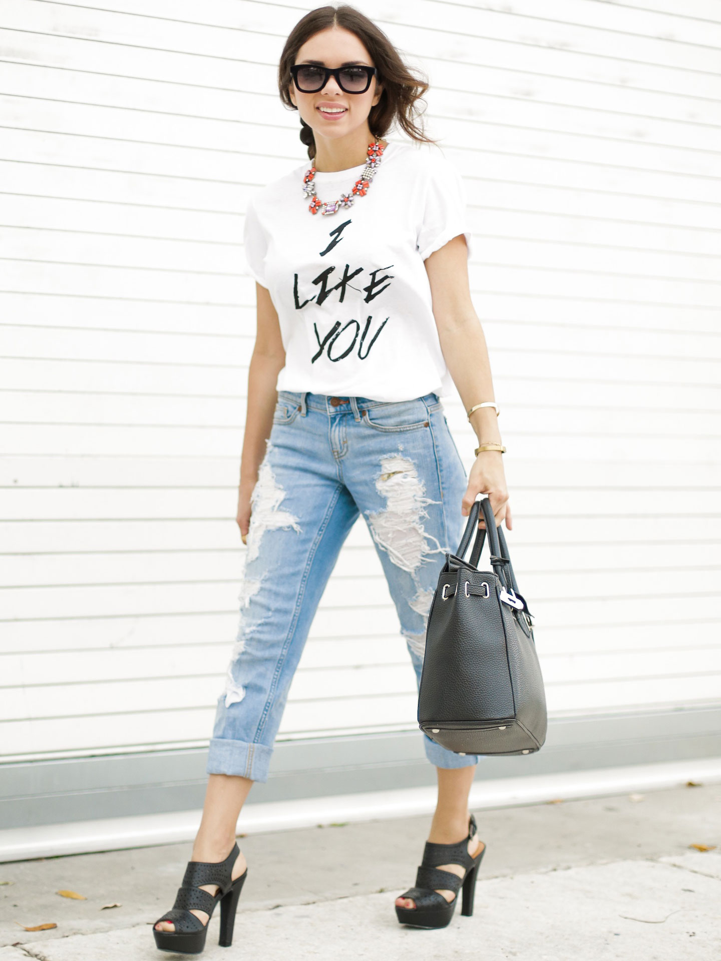 How To Style Boyfriend Jeans - Seventeen Style Council Daniela ...