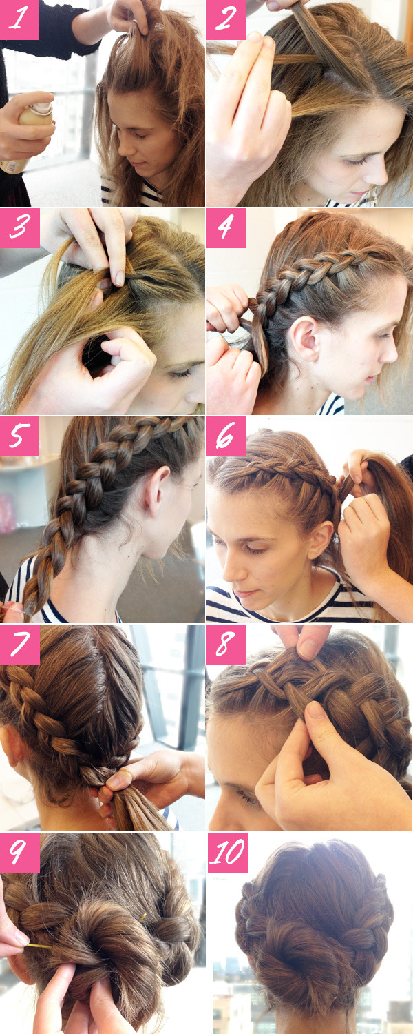 How to bun hairstyles step by step - Hair How To 10 Steps To A Double Braided Bun