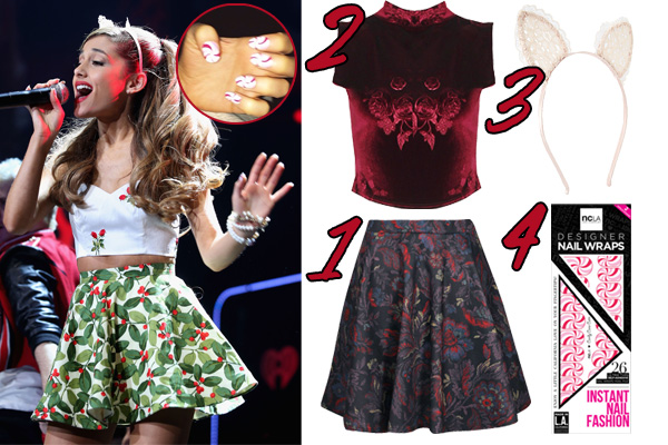 Ariana Grande 2013 Jingle Ball Outfits Holiday Party Style Ideas