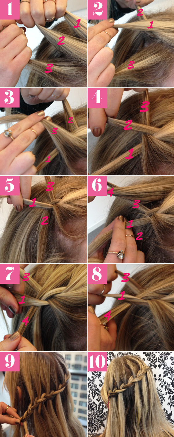 Fantastic Waterfall Braid Tutorial Waterfall Braid Picture How To Hairstyle Inspiration Daily Dogsangcom