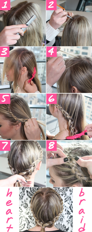 Sensational Heart Braid Tutorial Heart Braid How To Steps Hairstyle Inspiration Daily Dogsangcom