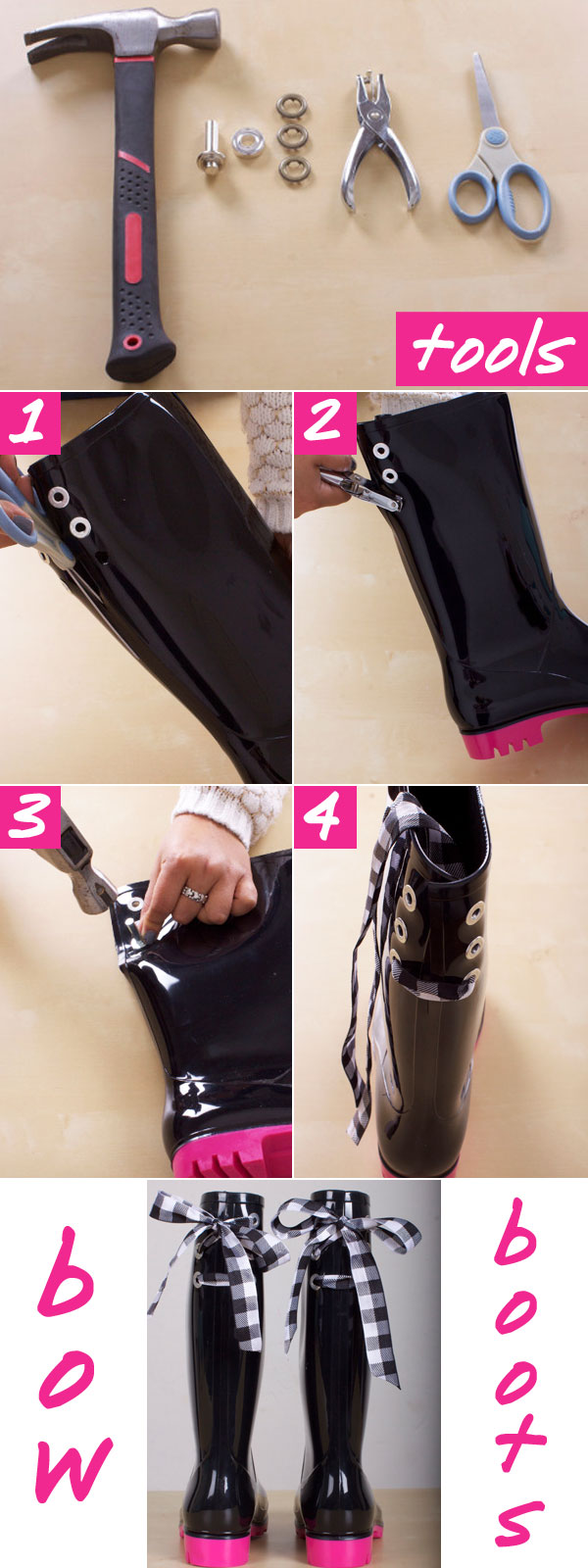 Rain Boots With Bows - Cute Rain Boots