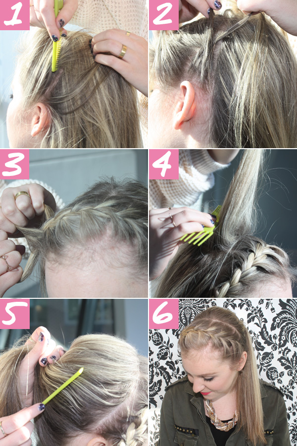 Super Braided Ponytail Tutorial Crown Braid Ponytail How To Short Hairstyles Gunalazisus