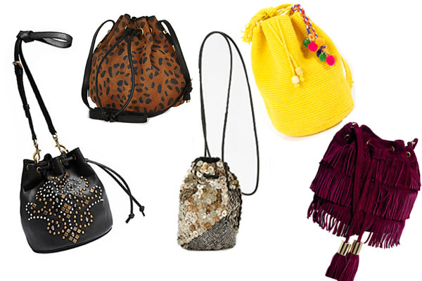 Mini Drawstring Bags - Bucket Bags