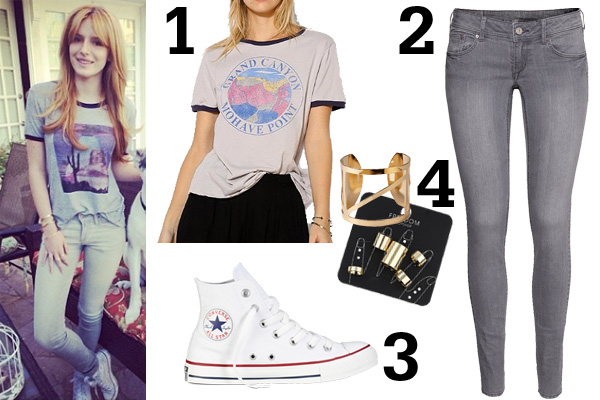 Bella Thorne Graphic Tee Outfit What To Wear This Weekend