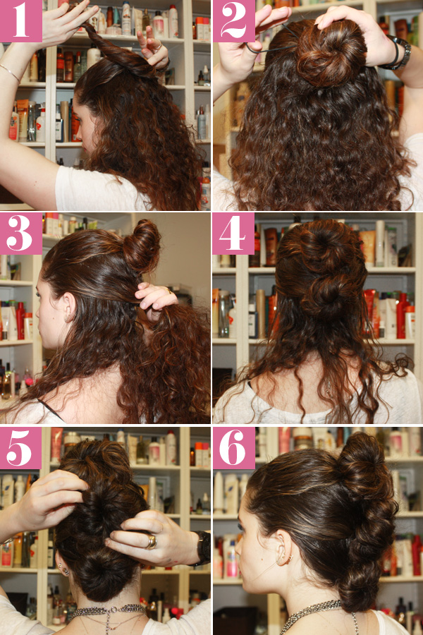 Curly Fauxhawk Hair Style - Simple Updos For Naturally ...