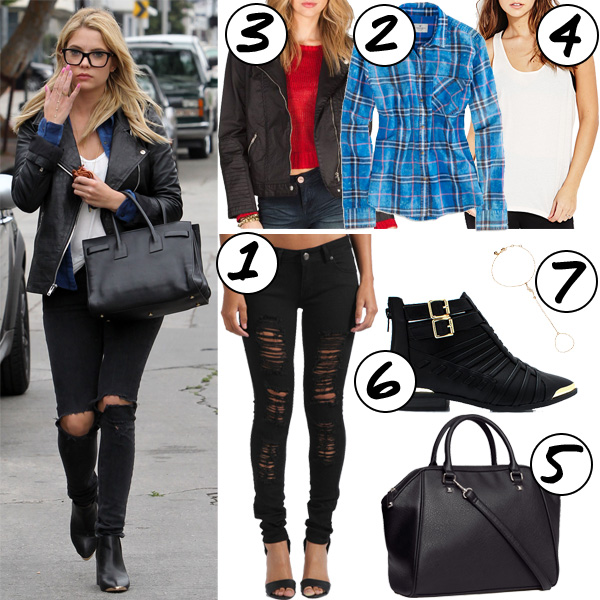 Ashley Benson Cool Style Inspiration Grunge Weekend Outfit Ideas