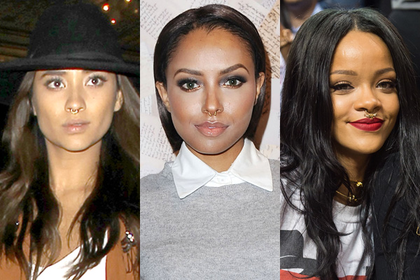 celebs with septum piercings   photos of celebrities with