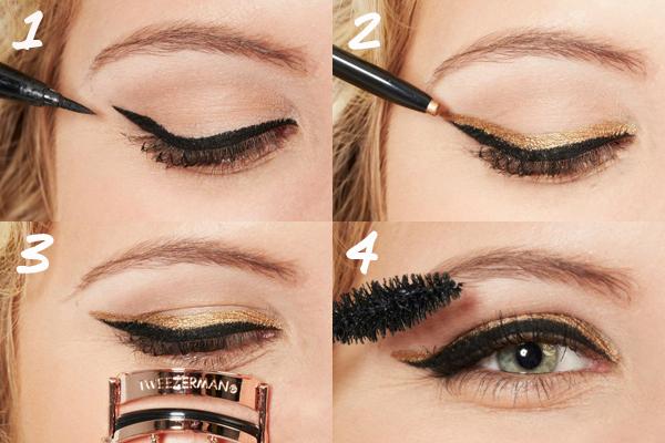 Gold Cat Eyes How-To - Metallic Cat Eye Makeup Tutorial