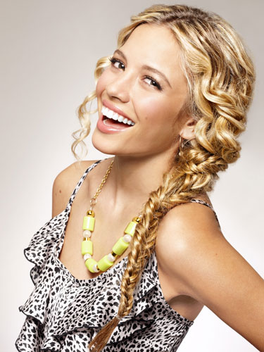 45 Cute Hairstyles for Curly Hair: Curly Hair Styles ... |Side Fishtail Braid With Curls