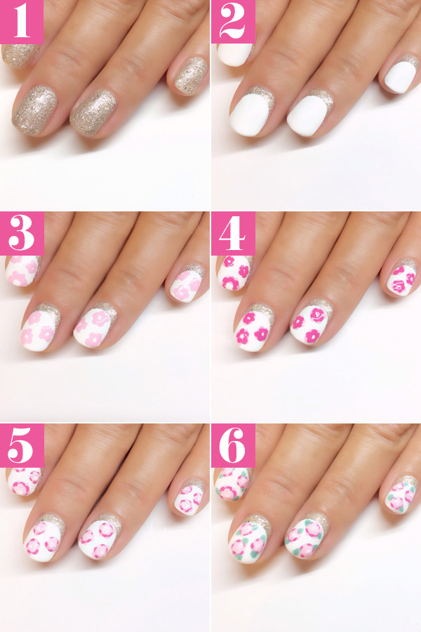 Floral Manicures For Spring And: Easy Floral Nail Art Tutorial