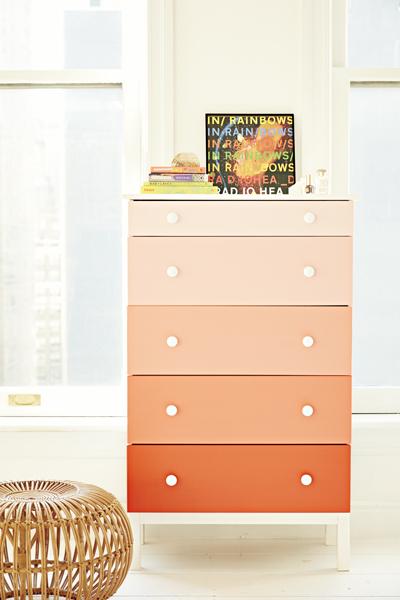 ombr dresser - Diy Bedroom Decor Ideas