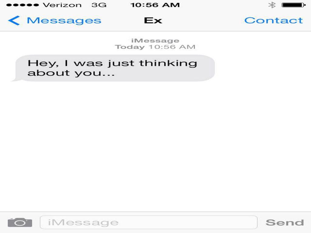 how to send a text to an ex boyfriend